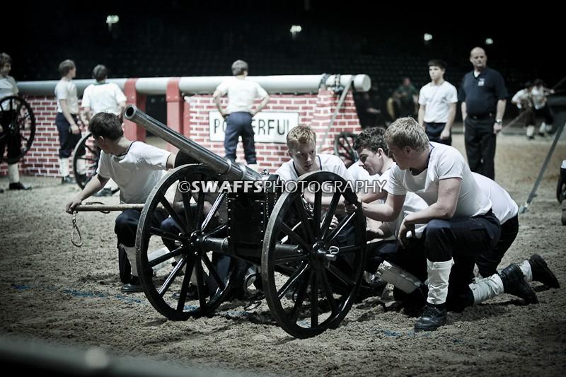 The British Military Tournament - Field Gun Run - Wellington